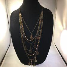Beautiful 6-Strand Necklace - Metal bangles