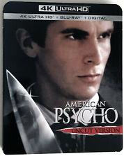American Psycho 4K U Hd + Blu-Ray + Digital New and Factory Sealed w/ Slipcover