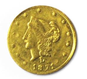 1871 L 50C BG-1029 California Fractional Gold Coin Liberty Head Half Dollar