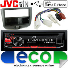 Toyota Yaris 2003-2006 JVC CD MP3 Radio USB Aux In Car Stereo & Fascia Panel Kit