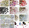 50 pcs Small Nail Art Shape Top Crystal AB Czech Crystal Rhinestone Flatback #03