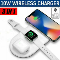 3 in 1 Wireless Fast Charger Dock Stand for AirPods Apple watch and iPhone