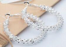 Boho Festival Party Boutique Uk Silver Fancy Hoops Luxury Fashion Earring