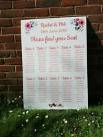 Personalised Acrylic Wedding Seating Plan/Table Plan/Planner Fast Delivery