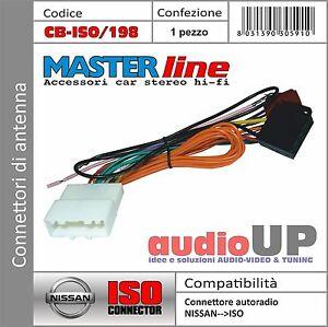 CONNETTORE ISO RADIO ORIGINALE PER NISSAN JUKE DAL 2010 IN POI. ADATTATORE AUTO