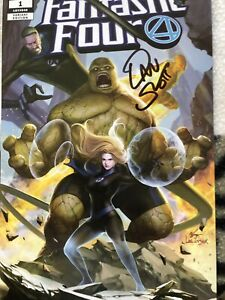 Fantastic Four #1  Comic 2018 Inhyuk Lee Variant  Hand Signed By Dan Slott