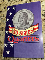 Fifty 50 US State Quarter Collection Set Complete With Commemorative Folder