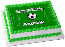 SOCCER FIELD   REAL EDIBLE ICING  CAKE TOPPER PARTY IMAGE FROSTING SHEET