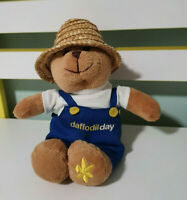 CANCER COUNCIL BEAR DOUGAL SOFT TOY PLUSH TOY TEDDY 21CM TALL! GARDENER WITH HAT