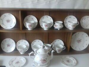 denby rockingham floral festival 22 piece china tea set vgc very pretty