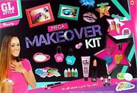 Girls 45 Piece Mega Makeover Set Hair & Nails Spa Beauty Salon Kit Toy R03-0146