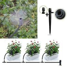 NEW 50 x Adjustable Water Flow Irrigation Drippers on Stake Emitter Drip System