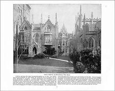 GRACE CHURCH NEW YORK / ARIZONA GARDEN MONTEREY CALIFORNIA USA 1897 PRINT