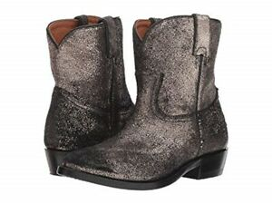 NEW FRYE Women's Billy Short Boot Gold Brushed Metallic Size 9 B
