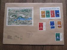 Enveloppe Jeux Olympiques 1972 Munich Ard Doz ZDF Centre