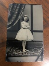 OLD VINTAGE ANTIQUE TINTYPE PHOTO of BEAUTIFUL Image YOUNG GIRL Princess Look!!!
