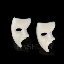 Fantasma de la Ópera Máscara Carnaval Esmalte Blanco Broadway Musical Dormilonas