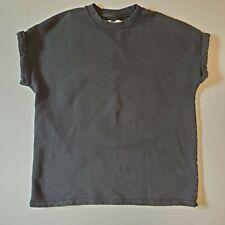 Topman Short Sleeve Sweatshirt Faded Black