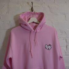 """W"" Hip Hop x Hello Kitty Clan Japanese Cartoon Pink Hooded Sweatshirt Hoodie"