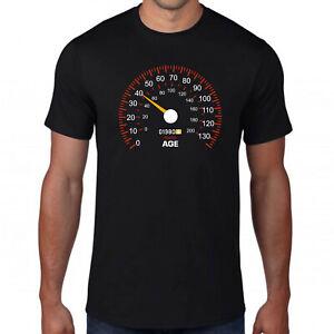 40th Birthday T-Shirt,Car Speedometer Motor Racing Sport Feels Age Year 1980 Top