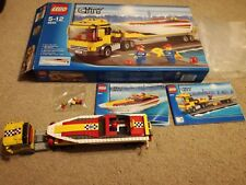 Lego City Town Construction - 4643 Power Boat Transporter - Complete Boxed VGC