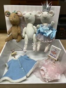 Angelina Ballerina Lot 3 Dolls Outfits, Accessories, Mouse, American Girl Snow