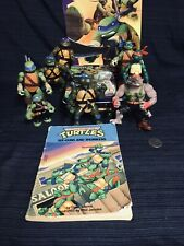 Lot Vtg Teenage Mutant Ninja Turtles TMNT Playmates 1989 - 2013 Figures + Books