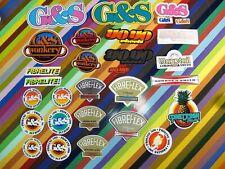 vtg 1970s G&S Gordon and Smith skateboards sticker - Fibreflex Wonkers Yoyo +