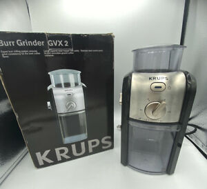Krups Expert GVX2 Electric Burr Coffee Grinder Black/Silver  -Espresso Ready