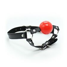 Soft Rubber Faux Leather Chin Harness Silicon Ball Gag 'G02'