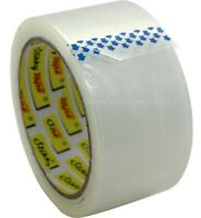 "12 ROLLS CLEAR PARCEL STRONG PACKING TAPE CARTON SEALING 2"" 48MM X 66M SELLOTAPE"