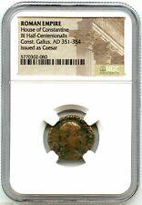 Ancient Rome House of Constantine, Gallus, AD 351-354 BI Half Centenionalis NGC!