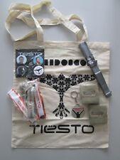 DJ TIESTO Rare Grande Promo/Fan Pack (badges/cordons/Porte-Clés/Sac Fourre-tout/Ventilateur) NEUF