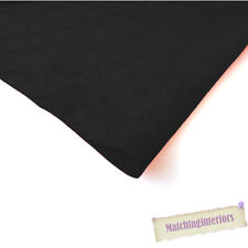 Black Faux Suede Upholstery Textiles Fabric Material Ideal for Crafts, Cushions