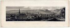 Bad Kreuznach-Panorama-Stahlstich - Rudolf/Bamberger/Jügel um 1840