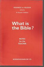 What Is The Bible Notes for the Teacher Constance M Parker PB 1971