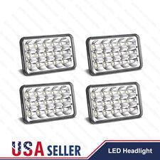 "4pc 4x6"" Hi/Lo Beam LED Headlights H4656/4651 For Kenworth Peterbilt 357 379 378"