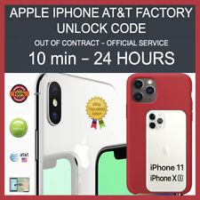 FACTORY PERMANENT UNLOCK SERVICE AT&T iPHONE 11 11 PRO MAX XS XS Max XR X 8 7 6