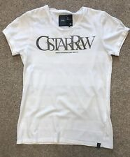 GORGEOUS WOMAN G-STAR RAW LARGE FRONT & BACK LOGO SLEEVE DETAIL TSHIRT L LARGE