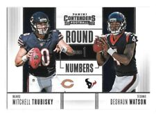 Deshaun Watson Rookie Card w Mitch Trubisky 2017 Round Numbers Houston Texans RC