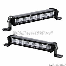 2pc OLS 7 Inch 18W Off Road LED Work Driving Flood Light Bar Jeep Truck 4WD ATV