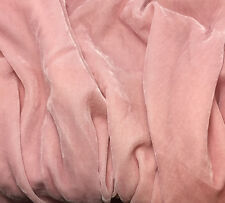 """Silk VELVET Fabric BABY PINK fat 1/4 18""""x22"""" remnant"""
