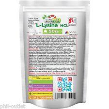 50g (1.76oz) L-Lysine Hcl - Kosher & Halal Certified - Free Ship (P)
