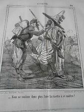 Caricature 1864 Faire la risette à ce maitre Barbichette