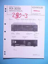 Service Manual-Anleitung für Kenwood KX-3030 ,ORIGINAL