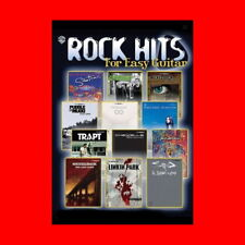 ☆MUSIC BOOK:ROCK HITS FOR EASY GUITAR RIFFs-NOTATION+CHORD CHARTS-GREEN DAY+MORE