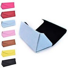 Foldable Triangular Magnetic Leather Case Glasses Eyeglass Sunglasses PortableTI
