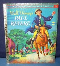 "Golden Book ""PAUL REVERE"" - ""1st"" 1957 - HB/PC  irwin shapiro & disney studios"