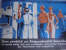 25904b DDR Plakat Tuberkulosebekämpfung in Stadt und Land Hygienemuseum 1958 TBC