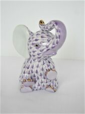 Herend Baby Elephant Sitting - Lavender / Purple Fishnet